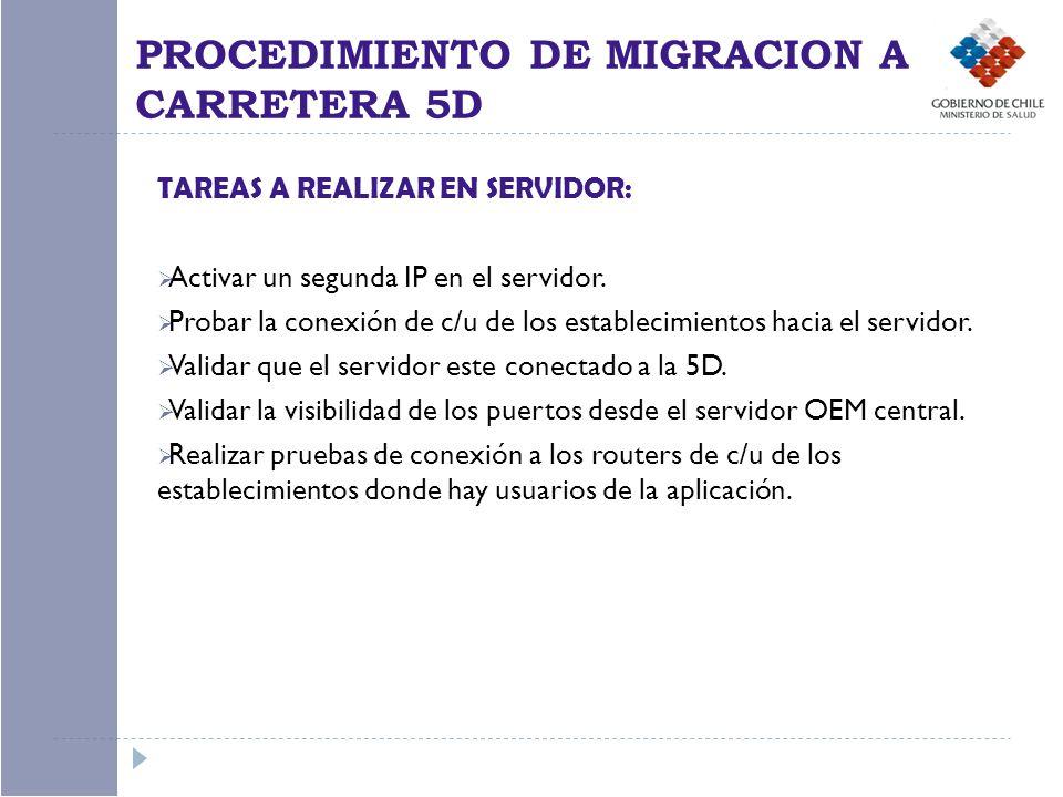 TAREAS A REALIZAR EN SERVIDOR: Activar un segunda IP en el servidor.