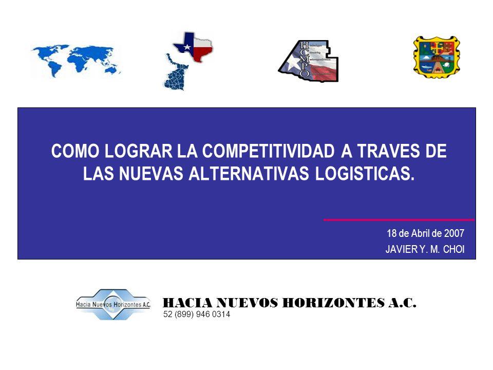 COMO LOGRAR LA COMPETITIVIDAD A TRAVES DE LAS NUEVAS ALTERNATIVAS LOGISTICAS. 18 de Abril de 2007 JAVIER Y. M. CHOI HACIA NUEVOS HORIZONTES A.C. 52 (8