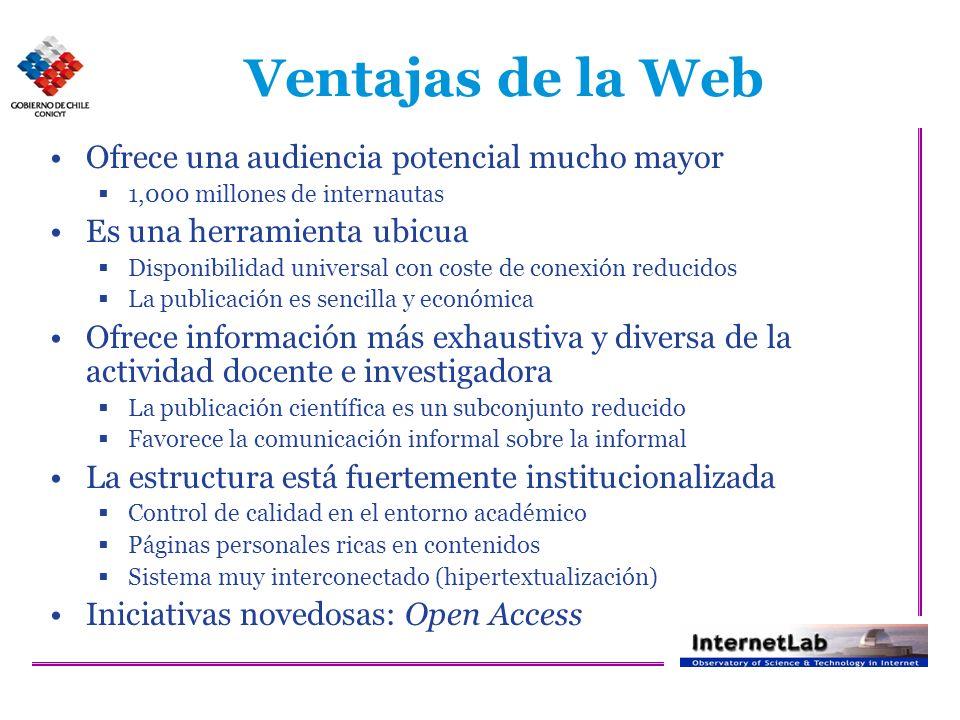 Aguillo et al., Noviembre 2005 (www.webometrics.info)
