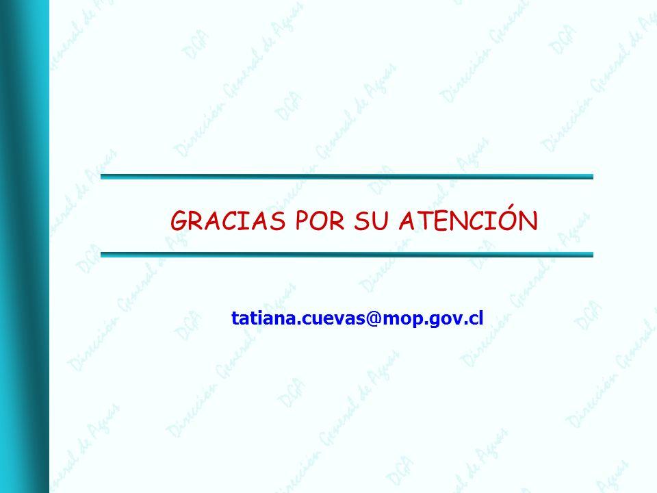 GRACIAS POR SU ATENCIÓN tatiana.cuevas@mop.gov.cl
