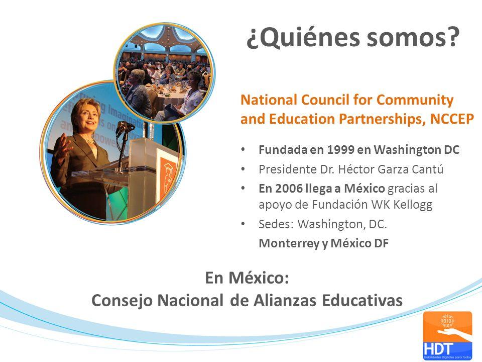 Fundada en 1999 en Washington DC Presidente Dr. Héctor Garza Cantú En 2006 llega a México gracias al apoyo de Fundación WK Kellogg Sedes: Washington,