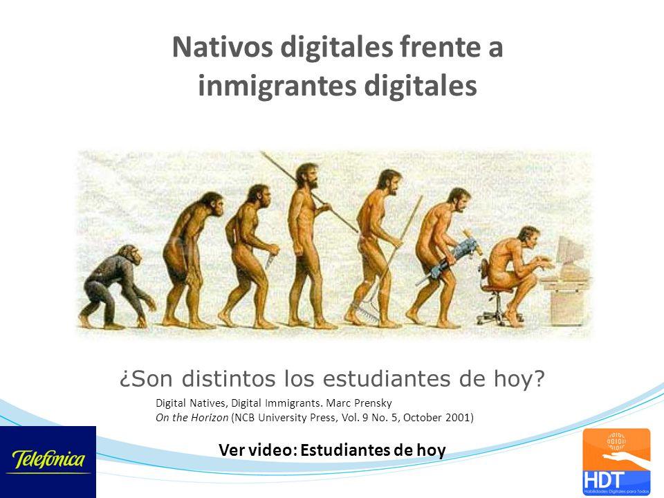 Nativos digitales frente a inmigrantes digitales Digital Natives, Digital Immigrants. Marc Prensky On the Horizon (NCB University Press, Vol. 9 No. 5,