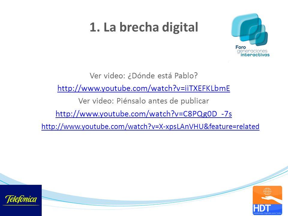 Ver video: ¿Dónde está Pablo? http://www.youtube.com/watch?v=iiTXEFKLbmE Ver video: Piénsalo antes de publicar http://www.youtube.com/watch?v=C8PQg0D_