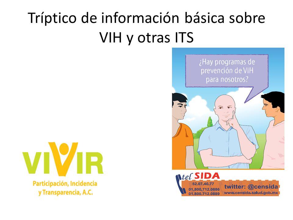 Tríptico de información básica sobre VIH y otras ITS