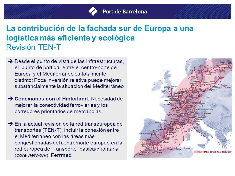 Desde el punto de vista de las infraestructuras, el punto de partida entre el centro-norte de Europa y el Mediterráneo es totalmente distinto: Poca in