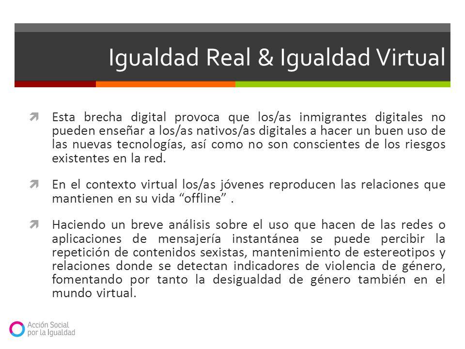 Esta brecha digital provoca que los/as inmigrantes digitales no pueden enseñar a los/as nativos/as digitales a hacer un buen uso de las nuevas tecnolo