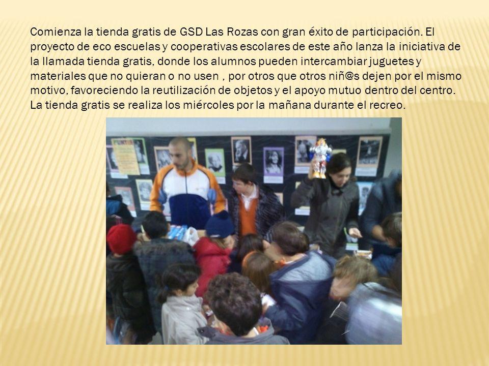 Comienza la tienda gratis de GSD Las Rozas con gran éxito de participación. El proyecto de eco escuelas y cooperativas escolares de este año lanza la