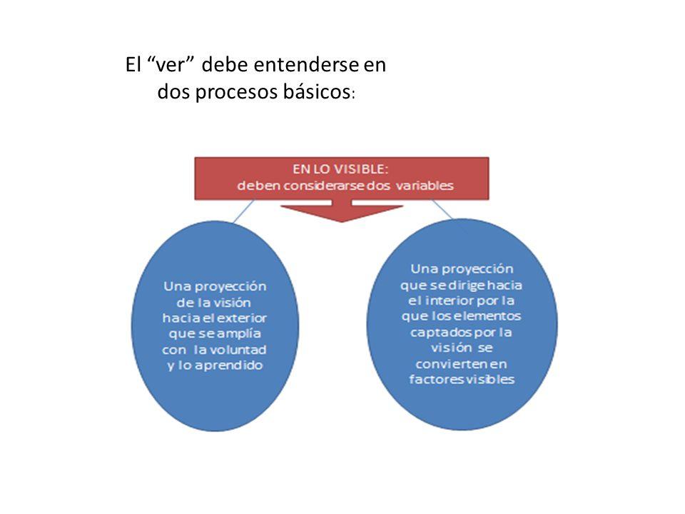 El ver debe entenderse en dos procesos básicos :