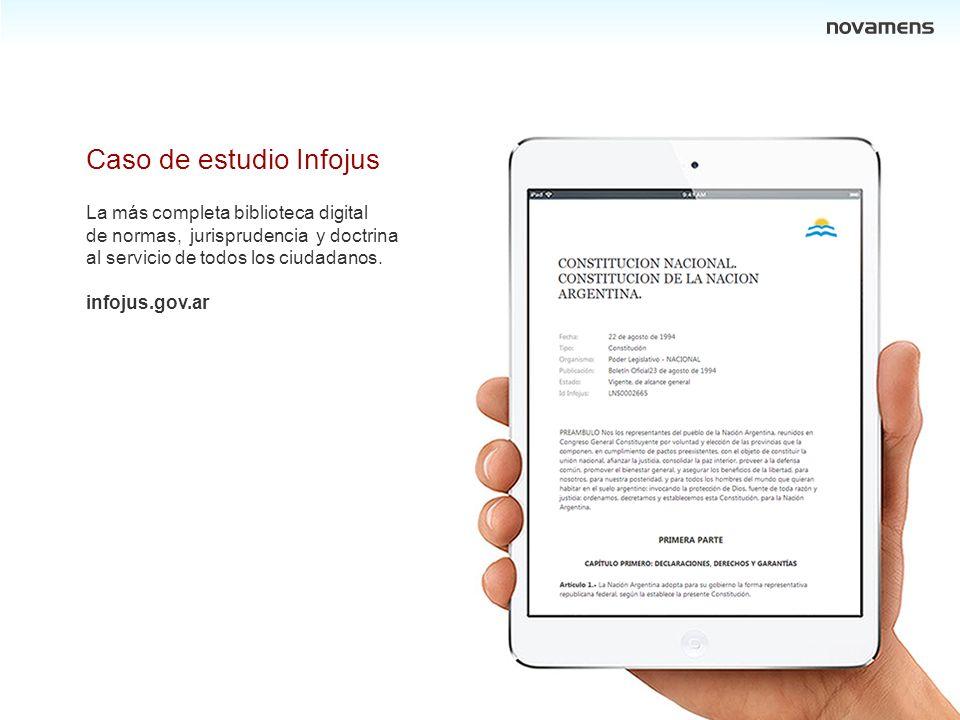 PJSF Licitación pública internacional nro. 10 Lote 2 (parcial) Sistema Documental Jurídico Caso de estudio Infojus La más completa biblioteca digital