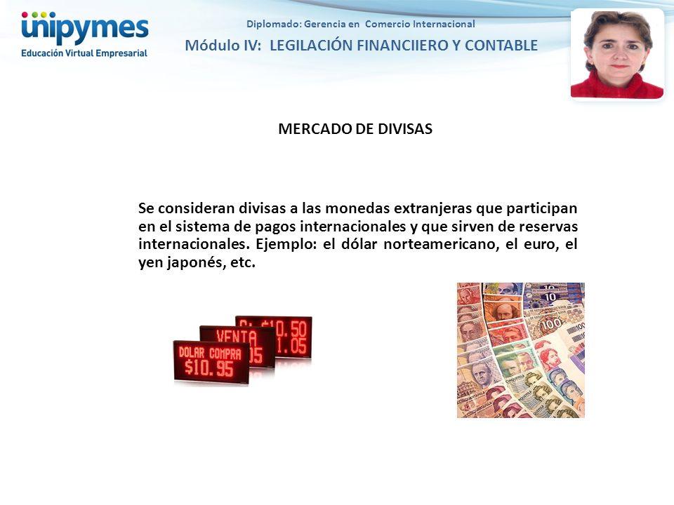 MERCADO DE DIVISAS Se consideran divisas a las monedas extranjeras que participan en el sistema de pagos internacionales y que sirven de reservas inte