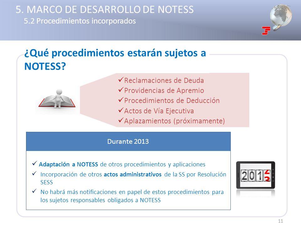 Reclamaciones de Deuda Providencias de Apremio Procedimientos de Deducción Actos de Vía Ejecutiva Aplazamientos (próximamente) Adaptación a NOTESS de