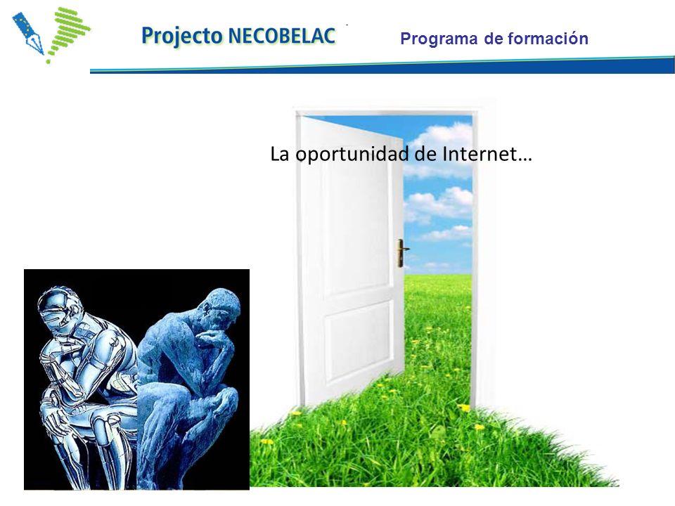 Programa de formación La oportunidad de Internet…