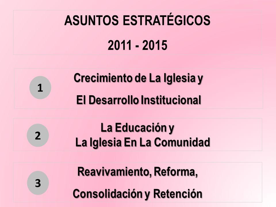 Crecimiento de La Iglesia y El Desarrollo Institucional La Educación y La Iglesia En La Comunidad Reavivamiento, Reforma, Consolidación y Retención AS