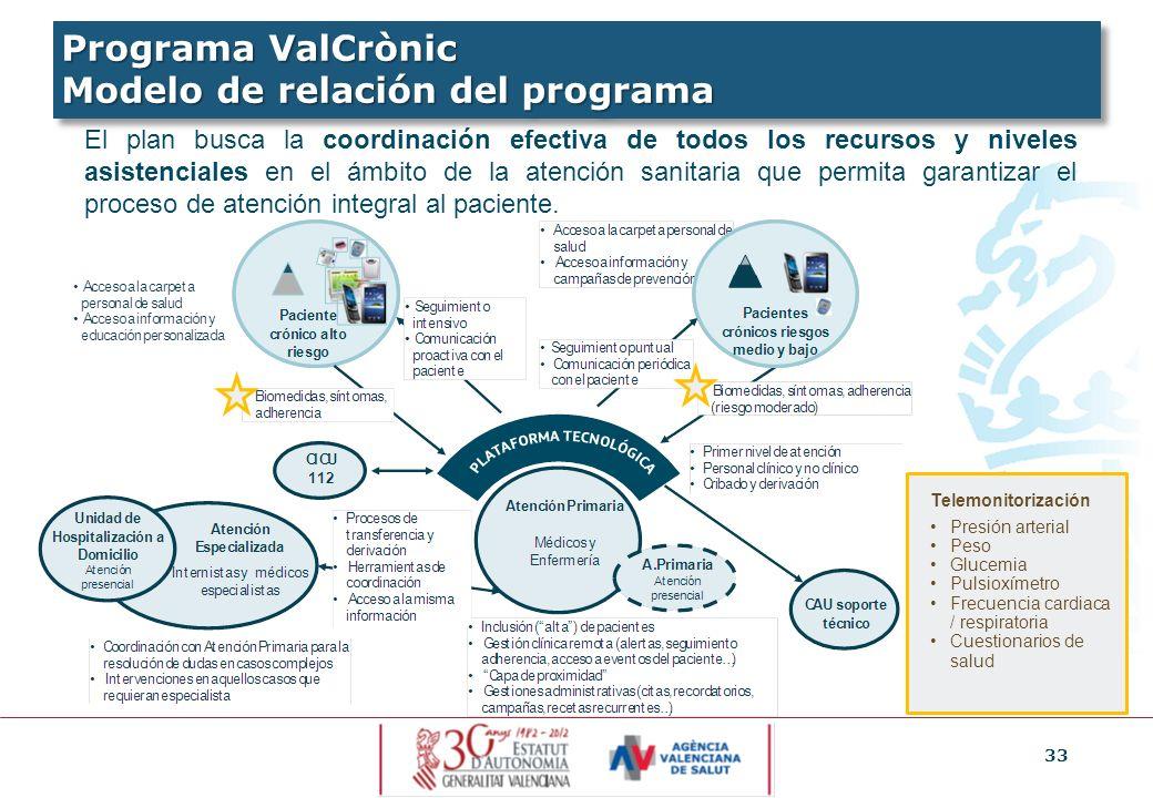 33 El plan busca la coordinación efectiva de todos los recursos y niveles asistenciales en el ámbito de la atención sanitaria que permita garantizar e