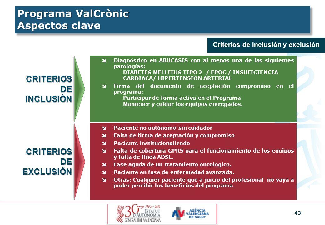 43 Criterios de inclusión y exclusión CRITERIOS DE INCLUSIÓN CRITERIOS DE EXCLUSIÓN Diagnóstico en ABUCASIS con al menos una de las siguientes patolog