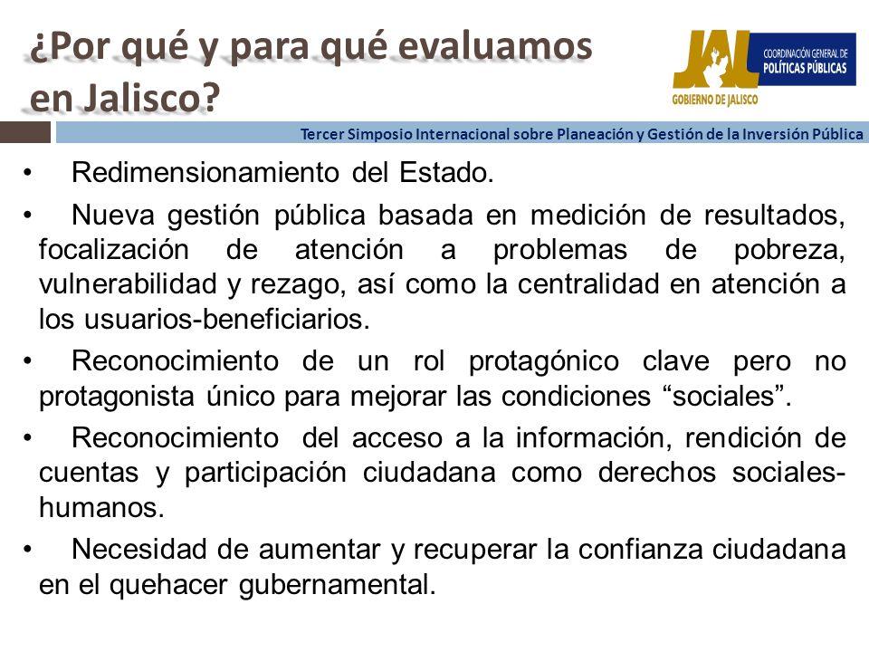 2 2 Tercer Simposio Internacional sobre Planeación y Gestión de la Inversión Pública ¿Por qué y para qué evaluamos en Jalisco.
