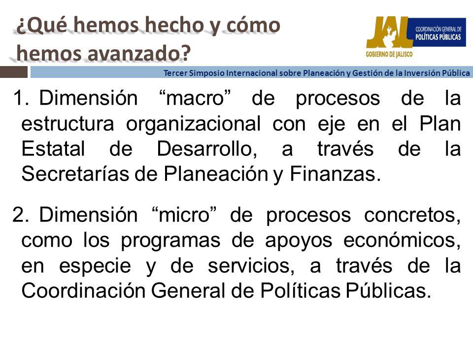 3 3 Tercer Simposio Internacional sobre Planeación y Gestión de la Inversión Pública ¿Qué hemos hecho y cómo hemos avanzado.