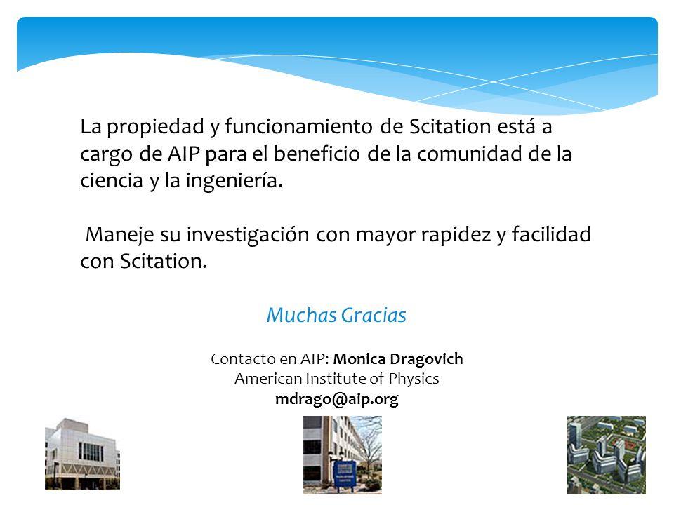 La propiedad y funcionamiento de Scitation está a cargo de AIP para el beneficio de la comunidad de la ciencia y la ingeniería.