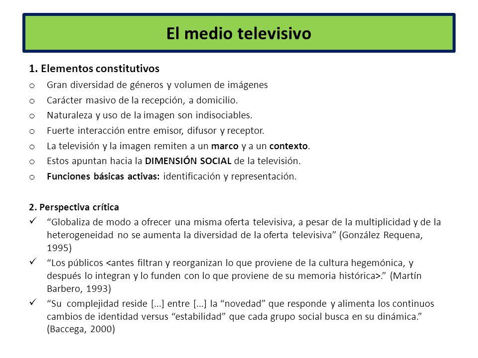 El medio televisivo 1.