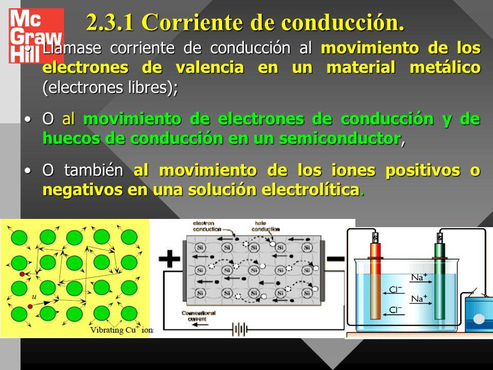 2.3.NOCION DE CORRIENTE ELÉCTRICA Las corrientes eléctricas se deben al movimiento de portadores de carga (electrones, iones, huecos, etc). Las corrie