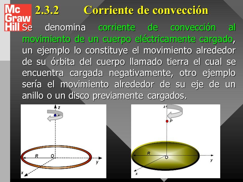 2.3.1 Corriente de conducción. Llamase corriente de conducción al movimiento de los electrones de valencia en un material metálico (electrones libres)