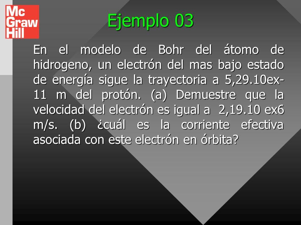 Ejemplo 02 La cantidad de carga q (en coulombs) que ha pasado a través de una superficie de área igual a 2.00 cm 2 varía en función del tiempo según l