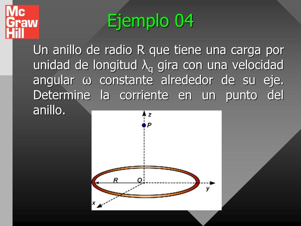 Ejemplo 03 En el modelo de Bohr del átomo de hidrogeno, un electrón del mas bajo estado de energía sigue la trayectoria a 5,29.10ex- 11 m del protón.
