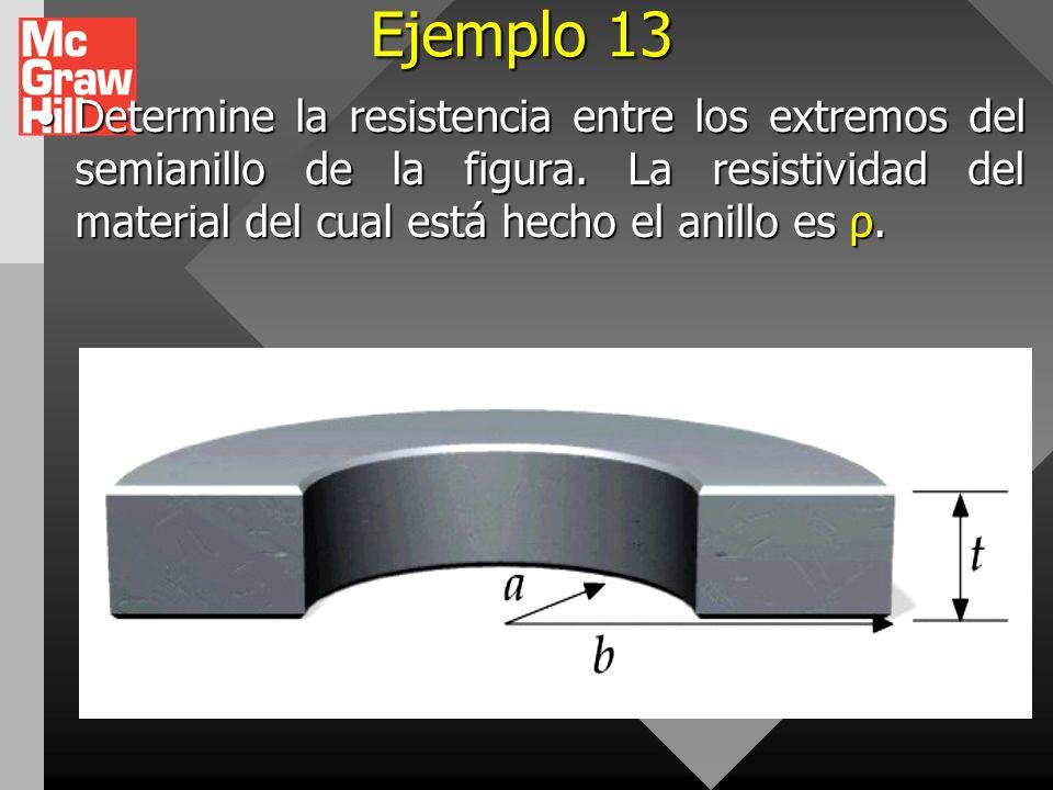 Ejemplo 12 Una varilla de aluminio tiene una resistencia de 1,234 Ω a 20 °C. Determine la resistencia de la varilla a 120 °C, tomando en cuenta los ca