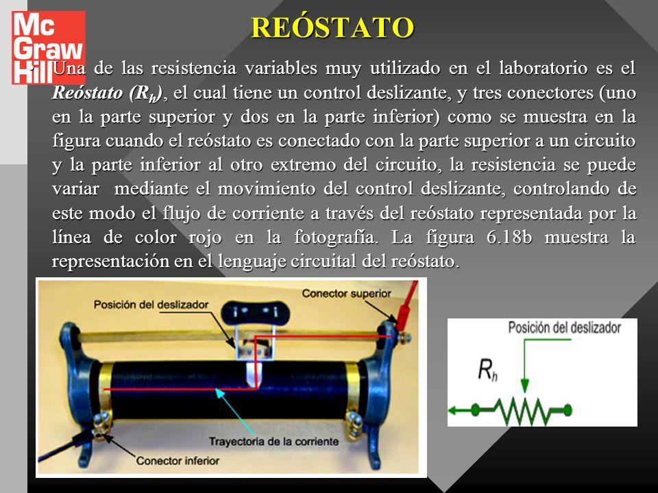 RESISTENCIAS VARIABLES Debe indicarse además que los resistores mostrados en las graficas anteriores no son el único tipo de resistencia que se usa en