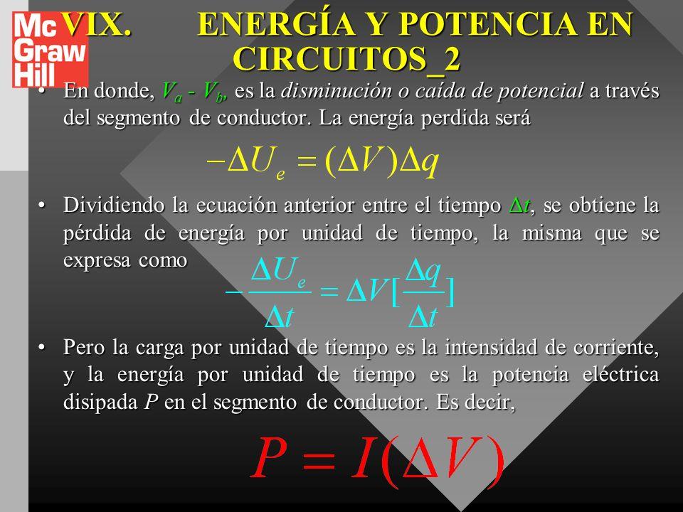 VIX.ENERGÍA Y POTENCIA EN CIRCUITOS ELECTRICOS. Para determinar la energía transformada, consideremos una porción de alambre en forma de cilindro circ