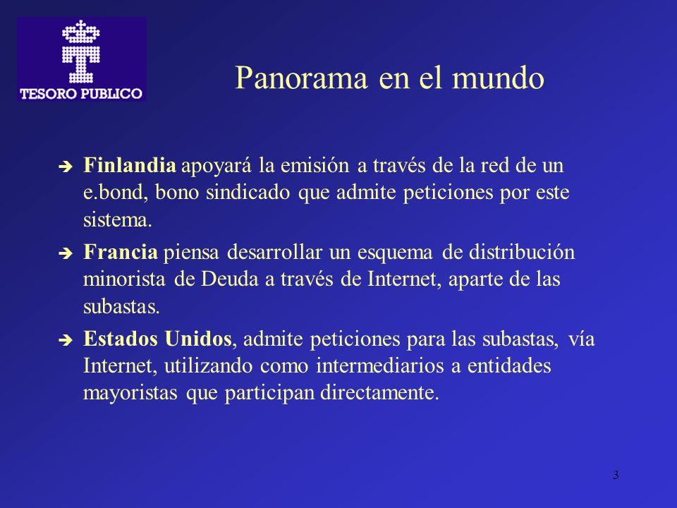 3 Panorama en el mundo Finlandia apoyará la emisión a través de la red de un e.bond, bono sindicado que admite peticiones por este sistema. Francia pi
