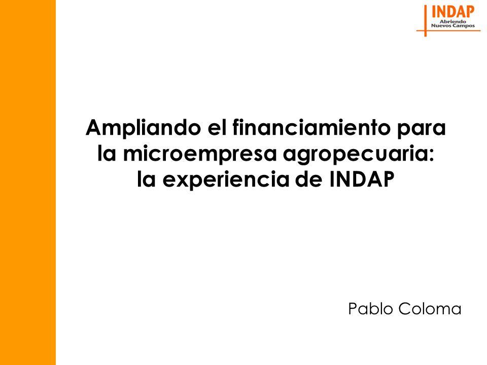 Ampliando el financiamiento para la microempresa agropecuaria: la experiencia de INDAP Pablo Coloma