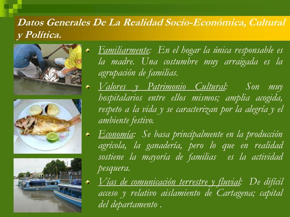 Datos Generales De La Realidad Socio-Económica, Cultural y Política.
