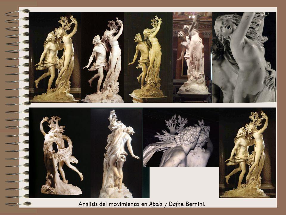 20 Análisis del movimiento en Apolo y Dafne. Bernini.
