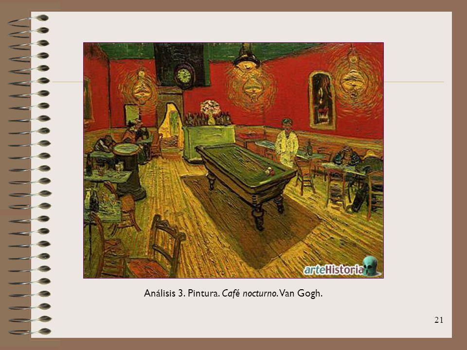 21 Análisis 3. Pintura. Café nocturno. Van Gogh.
