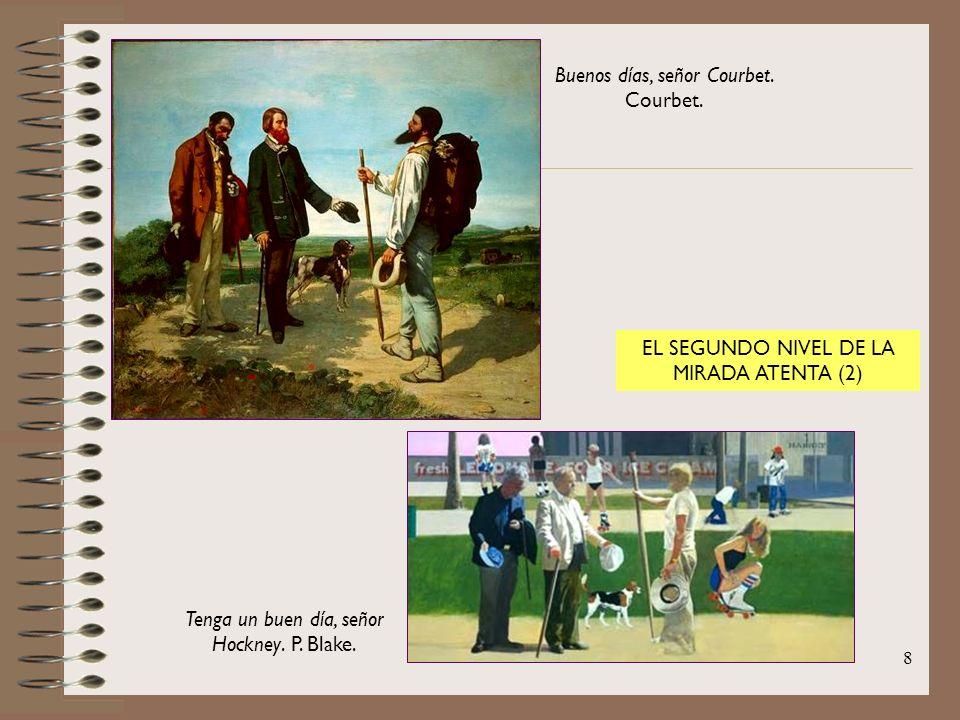 8 Buenos días, señor Courbet. Courbet. Tenga un buen día, señor Hockney. P. Blake. EL SEGUNDO NIVEL DE LA MIRADA ATENTA (2)
