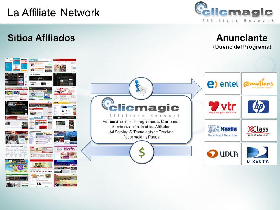 Los sitios afiliados eligen con qué anunciante y programa quieren trabajar en base al perfil de sus visitantes.