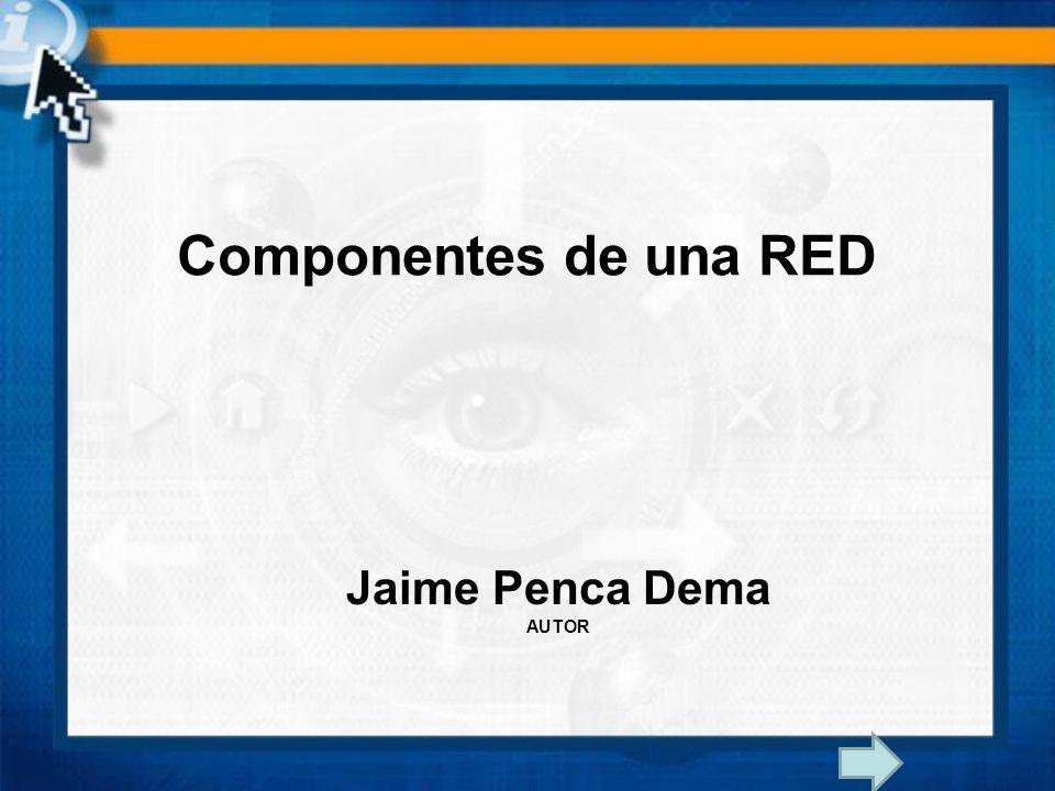 Jaime Penca Dema AUTOR Componentes de una RED