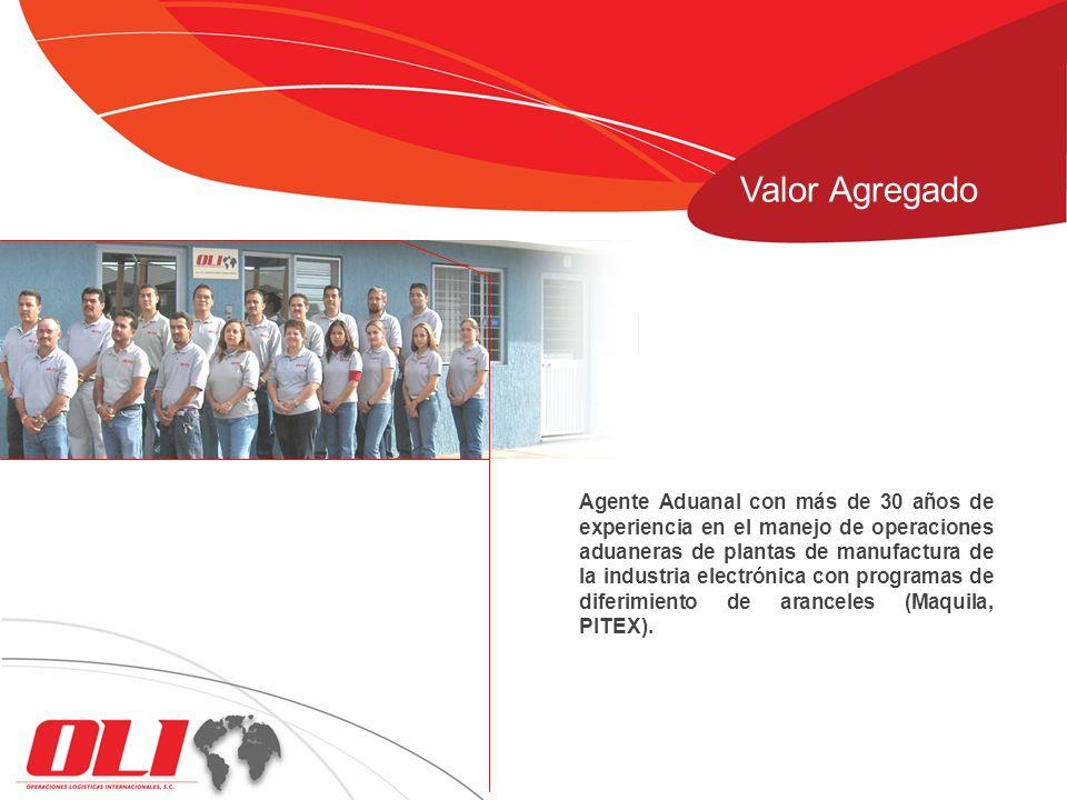 Agente Aduanal con más de 30 años de experiencia en el manejo de operaciones aduaneras de plantas de manufactura de la industria electrónica con progr