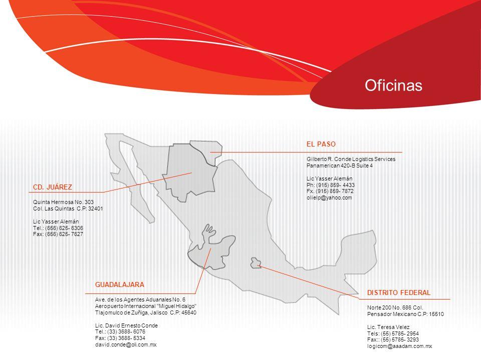 Oficinas GUADALAJARA Ave. de los Agentes Aduanales No. 6 Aeropuerto Internacional