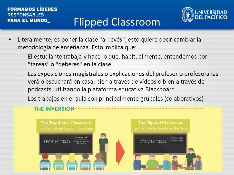 Flipped Classroom Literalmente, es poner la clase