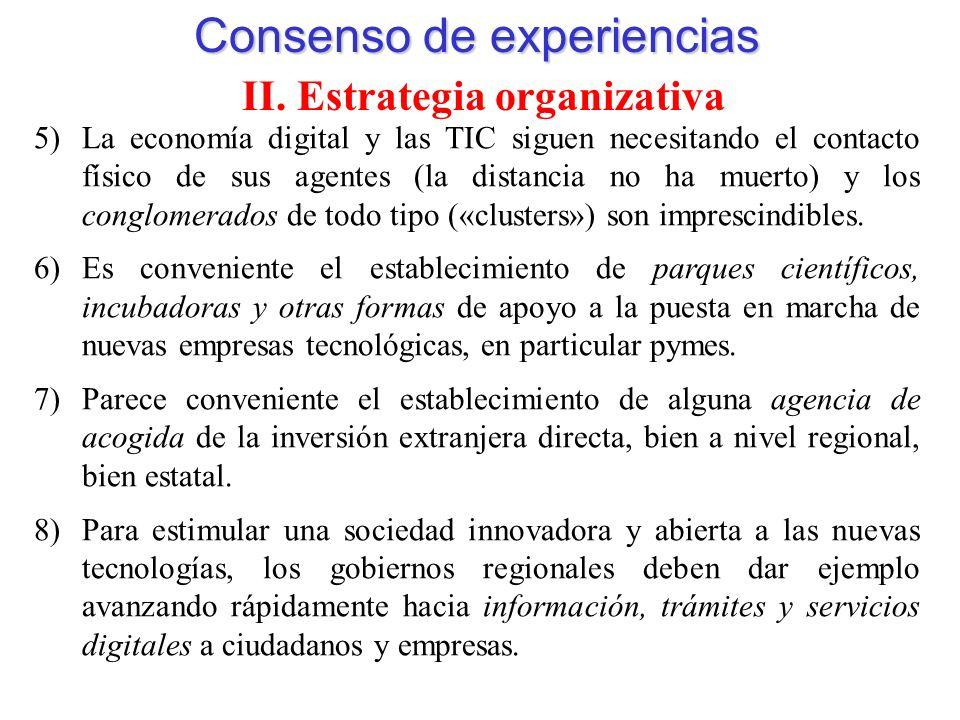 Consenso de experiencias II.