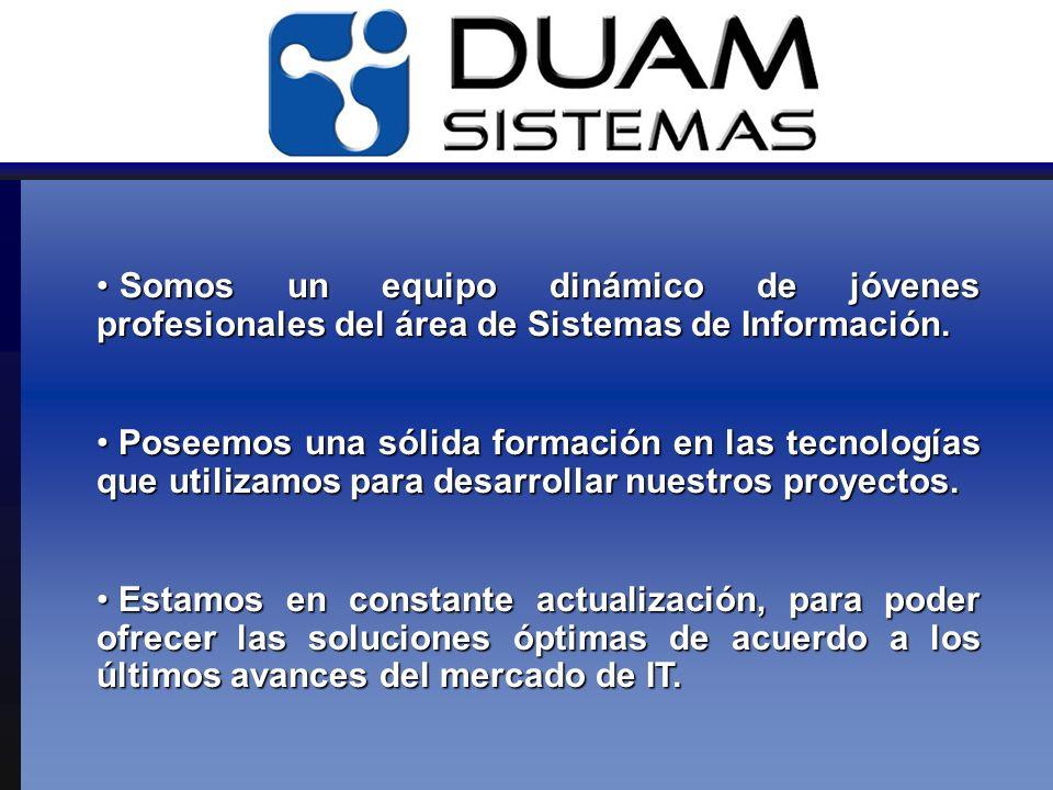 Somos un equipo dinámico de jóvenes profesionales del área de Sistemas de Información.
