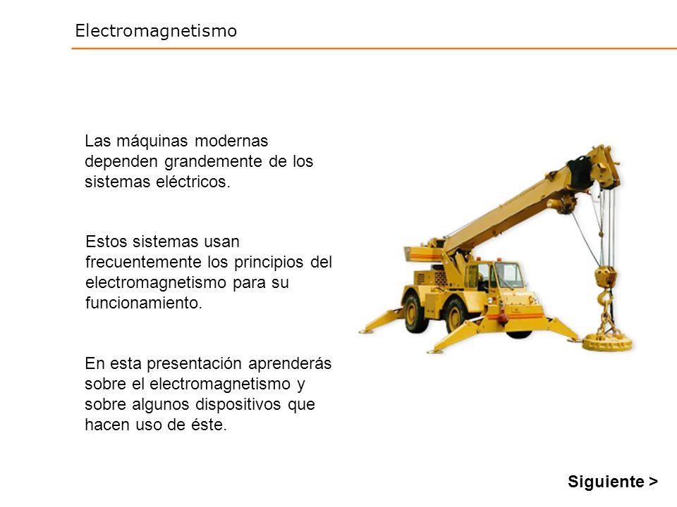 Electromagnetismo En esta presentación aprenderás sobre el electromagnetismo y sobre algunos dispositivos que hacen uso de éste. Las máquinas modernas