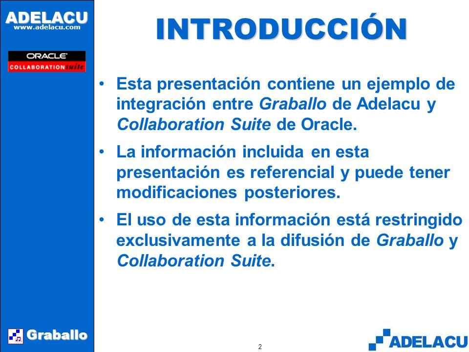 ADELACU www.adelacu.com Graballo Graballo Adelacu Ltda.