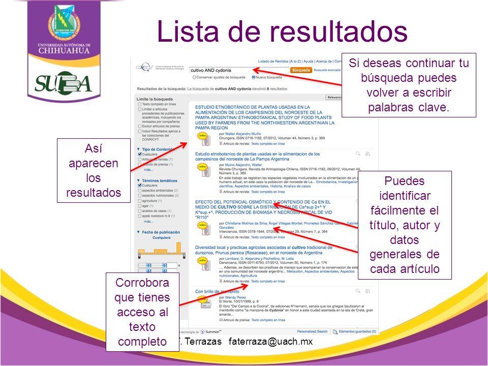 Herramientas Aquí encontrarás las herramientas para filtrar información F.