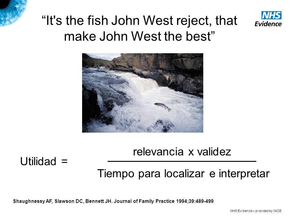 It's the fish John West reject, that make John West the best relevancia x validez Tiempo para localizar e interpretar Utilidad = Shaughnessy AF, Slaws