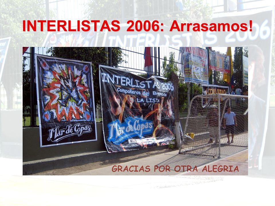 INTERLISTAS 2006: Arrasamos!