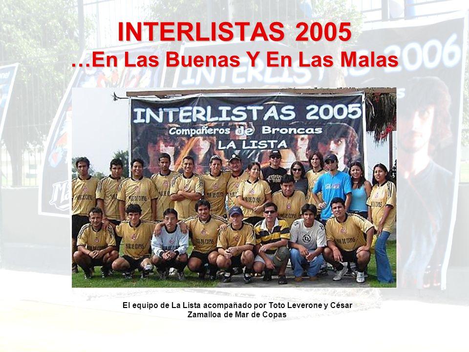 El equipo de La Lista acompañado por Toto Leverone y César Zamalloa de Mar de Copas
