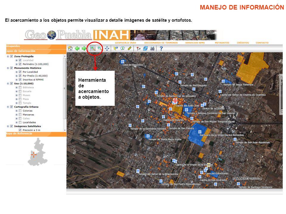 Hasta el momento se ha incorporado información de la ubicación de 4 003 MHI localizados en la ciudad de Puebla y las localidades de Acajete, Acatlán de Osorio, Acatzingo de Hidalgo, Amozoc de Mota, Aquixtla, Ciudad de Cuetzalán, Cuetzalán del Progreso, Huejotzingo, San Andrés Cholula, Cholula de Rivadia, Zacatlán, Cuidad de Tetela de Ocampo y Tonantzintla.
